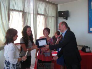 Chiara Abbate con il sindaco Cipriano