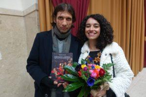 5 - L'editore, Pierangelo Giambra, e l'autrice del libro, Valentina Certo-min